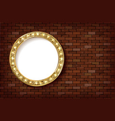 3d render marquee light circle board sign vector