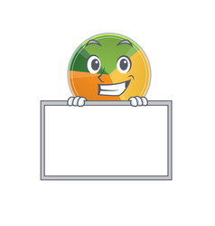 A cute picture pie chart grinning with board vector