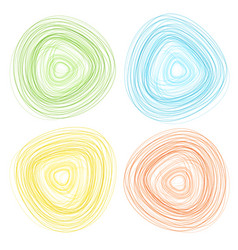 abstract outline circle shapes vector image