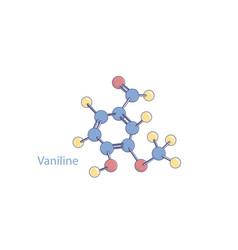 abstract vaniline molecule model color vector image