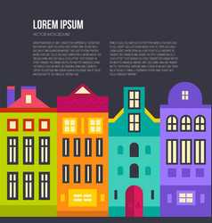 amsterdam skyline text vector image
