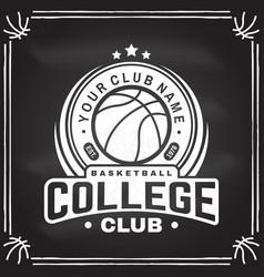 basketball club badge vector image