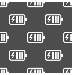 Battery charge seamless pattern vector