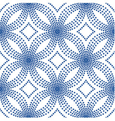 Blue floral pattern halftone background vector