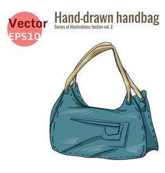 Blue handbag graphic style vector