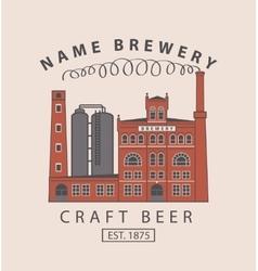 Brewery building in retro style vector