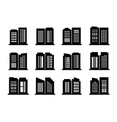 Building and company icon on white background vector