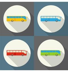 bus set icon vector image