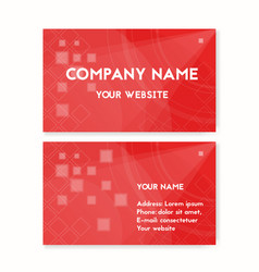 Business card red blood donation vector