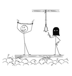 cartoon of man enjoying the crowd while waiting vector image