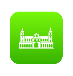 castle icon digital green vector image