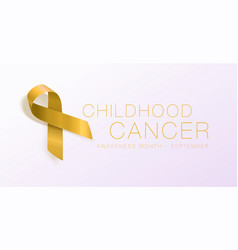 Childhood cancer awareness calligraphy poster vector