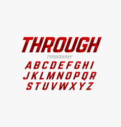 Cutted through font vector
