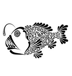 Deep sea fish lophius vector