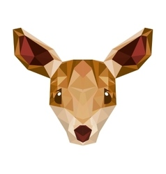deer head low poly isolated icon vector image