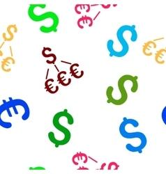 Dollar Euro Links Flat Seamless Pattern vector image