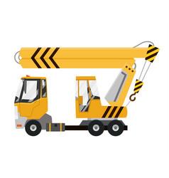 drawing elevating crane car mobile vector image