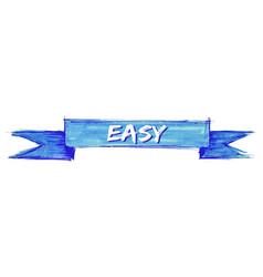 Easy ribbon vector