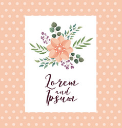 elegant wedding card flowers ornate decoration vector image