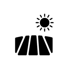 Field Icon Flat vector image
