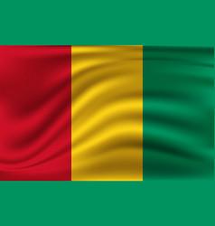 flag guinea-bissau realistic waving vector image