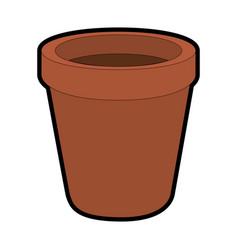 flower pot icon vector image