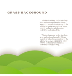 Grass green background vector image