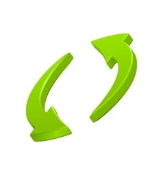 Green circular arrows icon vector