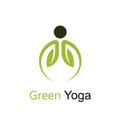 green yoga vector image