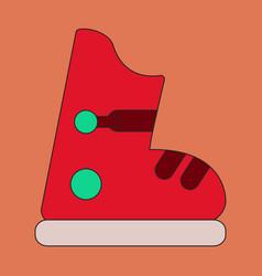 Icon in flat design ski boots vector