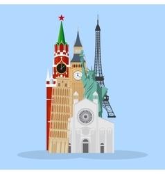 Landmarks cartoon vector