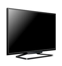 lcd tv screen realistic vector image
