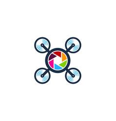 lens drone logo icon design vector image