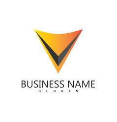 letter v business logo vector image