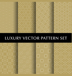 Luxury golden patterns pack vector