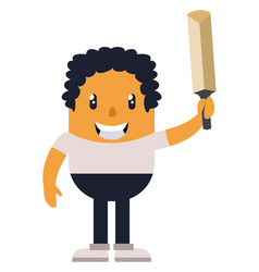 man with sword on white background vector image