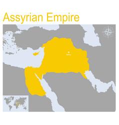 Map assyrian empire vector