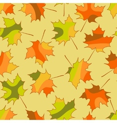 Mosaic maple leaf seamless pattern autumn seamless vector