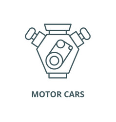 motor cars line icon linear concept vector image