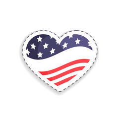 Old glory heart shaped figure vector
