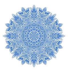 Ornamental round snowflake pattern vector image vector image