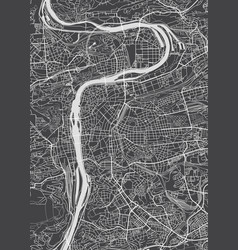 Prague city plan detailed map vector