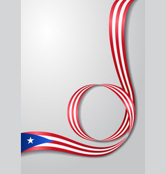 Puerto rican flag wavy background vector