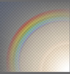 rainbow on a transparent vector image
