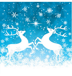 reindeers vector image