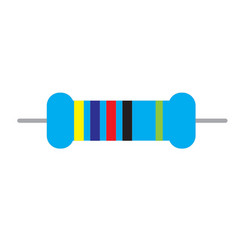 resistor icon on white background resistor sign vector image