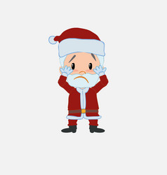 Santa claus surprised vector