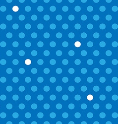 Seamless blue and white polka dots pattern vector image