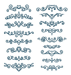 set vintage decorative elements vector image