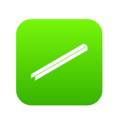 steal beam icon green vector image